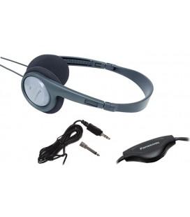 Ακουστικά Stereo Panasonic RP-HT090 3.5 mm Γκρι για Τηλεοράσεις και Συσκευές Ήχου με Ρυθμιστικό Έντασης 5μ