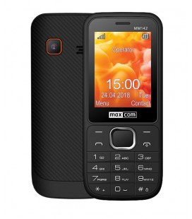 """Maxcom MM142 (Dual Sim) 2.4"""" με Κάμερα, Bluetooth, Φακό, Ανοιχτή Ακρόαση και Ραδιόφωνο Μαύρο"""