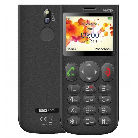 "Maxcom MM750 2.3"" με Μεγάλα Πλήκτρα, Bluetooth, Ραδιόφωνο, Κάμερα και Πλήκτρο Έκτακτης Ανάγκης Μαύρο"