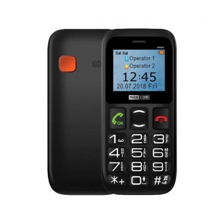 """Maxcom MM426 (Dual Sim) 1.77"""" με Μεγάλα Πλήκτρα, Ραδιόφωνο, Φακό και Πλήκτρο Έκτακτης Ανάγκης Μαύρο"""