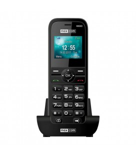 "Maxcom MM36D 3G 1.77"" με Μεγάλα Πλήκτρα, Ραδιόφωνο και Βάση Φόρτισης Μαύρο"