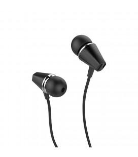 Hands Free Hoco M34 Earphones Stereo 3.5 mm Μαύρο με Μικρόφωνο και Πλήκτρο Λειτουργίας