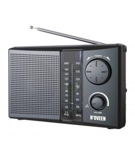 Φορητό Ραδιόφωνο N'oveen PR450 1W Μαύρο με Τροφοδοσία Ρεύματος και Μπαταρίας