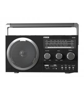 Φορητό Ραδιόφωνο N'oveen PR750 5W Μαυρο μεΥποδοχή USB, Κάρτα Μνήμης, Audio-in και Τροφοδοσία Ρεύματος και Μπαταρίας