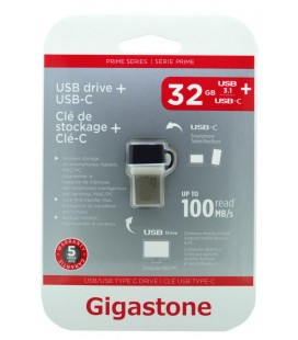 Gigastone Prime Series USB 3.0 Flash Drive και Type-C 32GB OTG για Smartphones & Tablet UC-5400B Refurbished 5 Years Guarantee