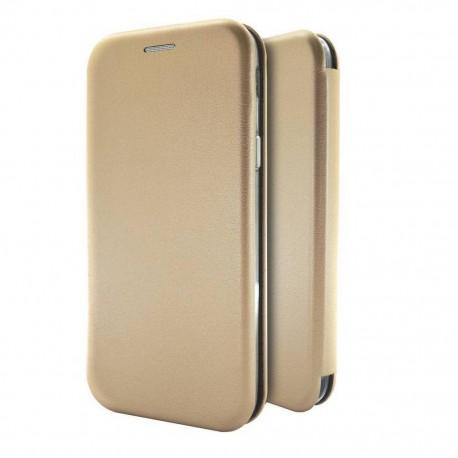 Θήκη Book Ancus Magnetic Curve για Samsung SM-A920F Galaxy A9 (2018) TPU Χρυσαφί
