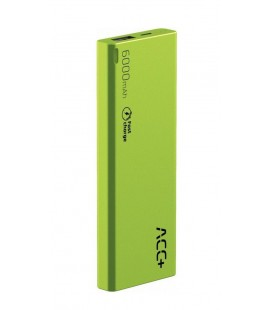 Power Bank ACC+ THIN 6000 mAh Fast Charge Πράσινο