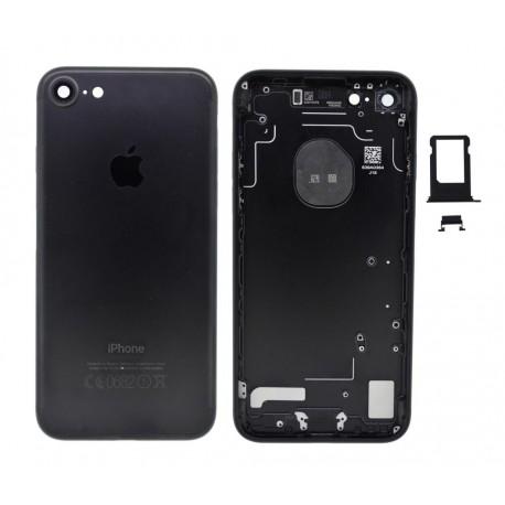 Πίσω Κάλυμμα Apple iPhone 7 με Σετ Κουμπιών και Sim Tray Μαύρο