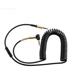 Καλώδιο σύνδεσης Ήχου Hoco UPA02 3.5mm Male σε 3.5mm Male Γωνιακό Κονέκτορα 1μ. Μαύρο με μικρόφωνο