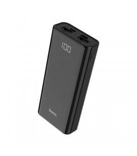 Power Bank Hoco J45 Elegant Shell 10000mAh Type-C & Micro USB και 2 USB Fast Charging, Intelligent Balance & LED Μαύρο