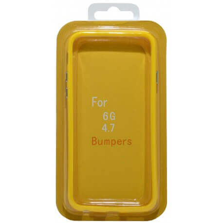Θήκη Bumper Ancus για Apple iPhone 6/6S Κίτρινη