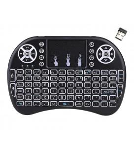 Πληκτρολόγιο Bluetooth Keywin Mini Rii i8+ με Backlit για Smartphone, Tablet, PC, και SmartTV Μαύρο