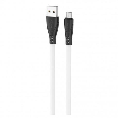 Καλώδιο σύνδεσης Hoco X42 USB σε Micro-USB 2.4A Fast Charging με Ανθεκτική Σιλικόνη 1μ. Άσπρο