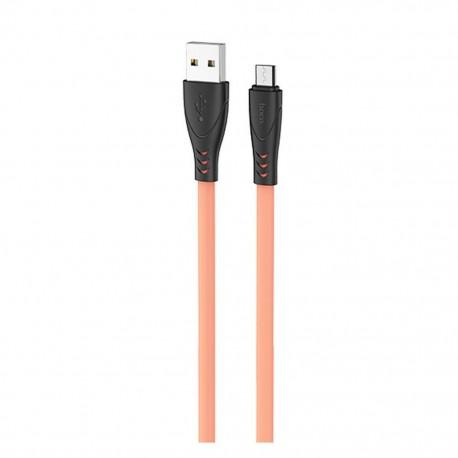 Καλώδιο σύνδεσης Hoco X42 USB σε Micro-USB 2.4A Fast Charging με Ανθεκτική Σιλικόνη 1μ. Κίτρινο