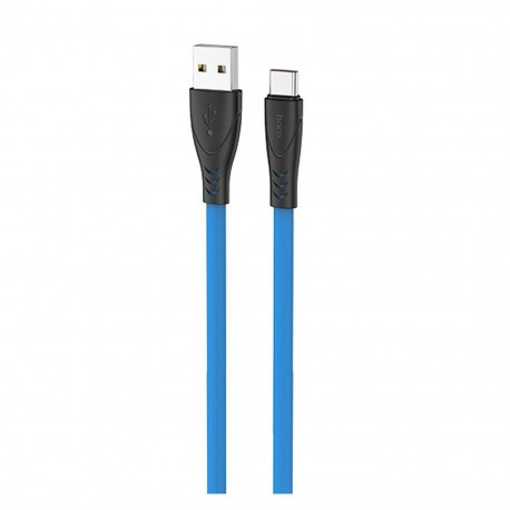 Καλώδιο σύνδεσης Hoco X42 USB σε Type-C 2.4A Fast Charging με Ανθεκτική Σιλικόνη 1μ. Μπλε