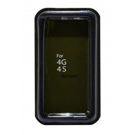 Θήκη Bumper Ancus για Apple iPhone 4/4S Μαύρη