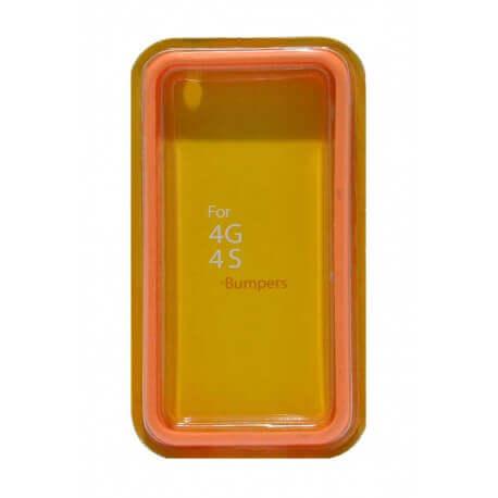 Θήκη Bumper Ancus για Apple iPhone 4/4S Πορτοκαλί