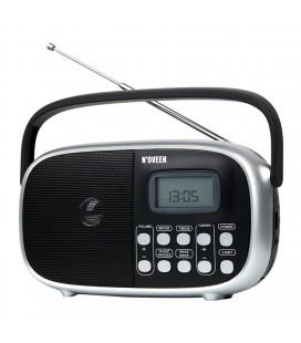 Φορητό Ραδιόφωνο N'oveen PR850 5W Μαυρο με Ψηφιακό Δέκτη και Τροφοδοσία Ρεύματος / Μπαταρίας