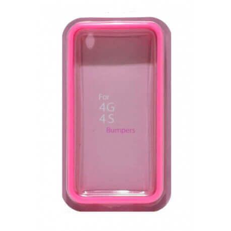 Θήκη Bumper Ancus για Apple iPhone 4/4S Ρόζ
