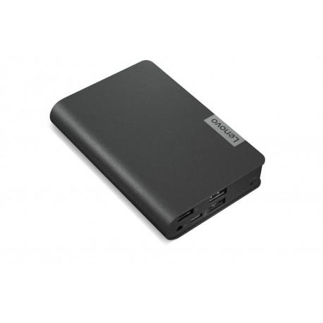 Power Bank Lenovo USB-C Laptop 14000mAh USB-C Max. 45W 20V, 2.25A, USB-A Max. 10W 5V,2A Περιλαμβάνει Καλώδιο/Dongle, Μαύρο