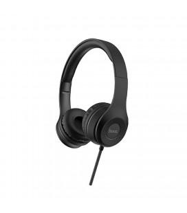 Ακουστικά Stereo Hoco W21 Graceful Charm με Μικρόφωνο Μαύρα