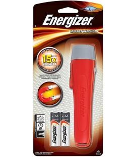 Φακός Energizer Magnetic Handheld 50 Lumens με 2 ΑΑ μπαταρίες. Κόκκινος