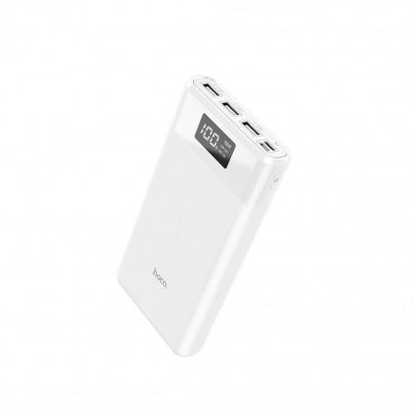 Power Bank Hoco B35E Entourage Mobile 30000 mAh Fast Charging για Micro-USB και Type-C και 3 εξόδους USB 37W Λευκό