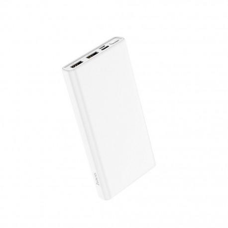 Power Bank Hoco J55 Neoteric 10000mAh Dual USB και USB-C / Micro-USB Input 2.0A και ένδειξη LED Λευκό