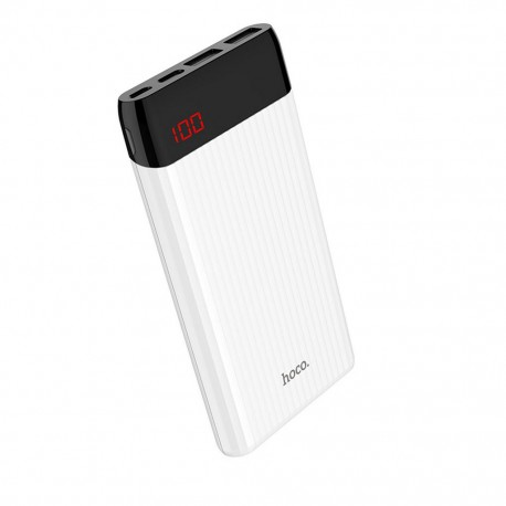 Power Bank Hoco J28 Shock Power 10000mAh με Dual USB και Είσοδο USB-C / Micro-USB 2.0A και LED Ένδειξη Λευκό