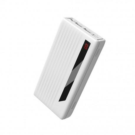 Power Bank Hoco J27A Wide energy 20000 mAh με USB-C / Micro-USB και 2 Θύρες USB Λευκό με Λειτουργία Φακού