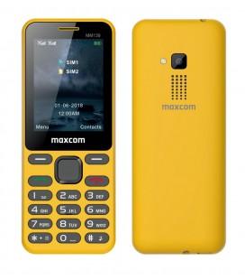 "Maxcom MM139 (Dual Sim) 2,4"" με Κυρτό Σώμα, Κάμερα, Φακό και Ραδιόφωνο (Λειτουργεί Χωρίς Ακουστικά) Κίτρινο"