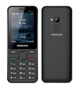"Maxcom MM139 (Dual Sim) 2,4"" με Κυρτό Σώμα, Κάμερα, Φακό και Ραδιόφωνο (Λειτουργεί Χωρίς Ακουστικά) Μαύρο"