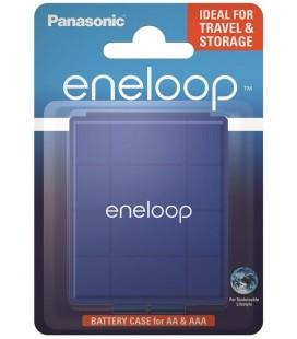 Κουτί Αποθήκευσης Μπαταριών Panasonic eneloop για αποθήκευση έως 4 μπαταριών ΑΑ και ΑΑΑ Μπλε