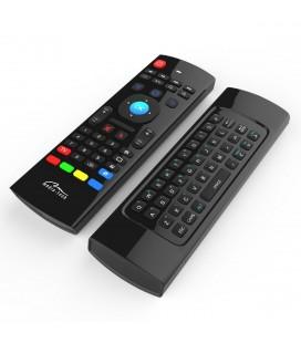 Πληκτρολόγιο και Τηλεχειριστήριο Wireless Media-Tech MT1422 3 σε 1 για Smartphone, Tablet, PC, SmartTV, TV Box Μαύρο