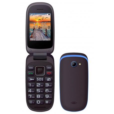 "Maxcom MM818 (Dual Sim) 2,4"" με Μεγάλα Πλήκτρα, Ραδιόφωνο (Λειτουργεί χωρίς Handsfree) και Πλήκτρο Έκτακτης Ανάγκης Μαύρο-Μπλέ"