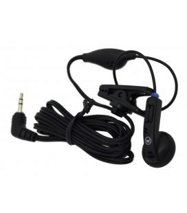 Hands Free Mono Ancus HiConnect 2.5mm χωρίς πλήκτρο απάντησης για Σταθερά Τηλέφωνα & Walkie Talkie Μαύρο Bulk