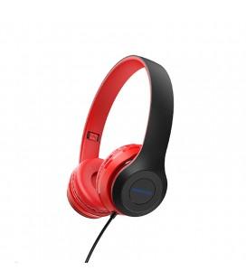 Ακουστικά Stereo Borofone BO5 Star sound 3.5mm Κόκκινα με Μικρόφωνο και Πλήκτρο Ελέγχου