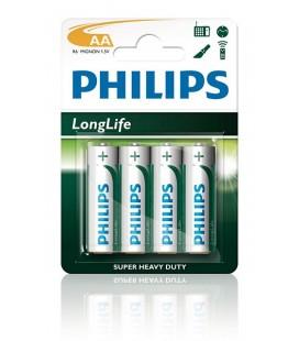 Μπαταρία Super Heavy Duty Philips Long Life LR6 size AA 1.5 V Τεμ. 4
