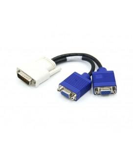 Καλώδιο Σύνδεσης Ancus Αρσενικό DVI σε 2 VGA Θυλικά 20cm