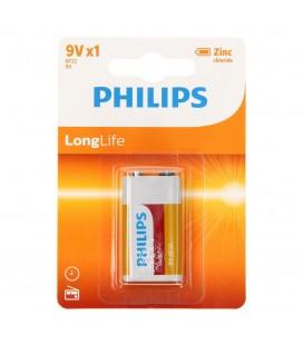 Μπαταρία Zinc Carbon Philips LongLife 6LR61 size 9V Τεμ. 1