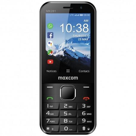 "Maxcom MK281 KaiOS 2.8"" 512MB/4GB 4G VoLTE, VoWiFi με Εφαρμογές, Κάμερα, Bluetooth, Φακό και Ραδιόφωνο Μαύρο"