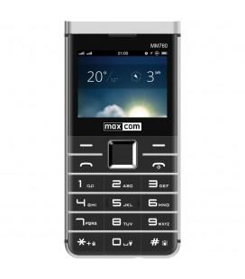 "Maxcom MM760 Dual SIM 2.3"" με Μεγάλα Πλήκτρα, Bluetooth, Κάμερα και Λεπτό Μεταλλικο Σχεδιασμό Μαύρο"