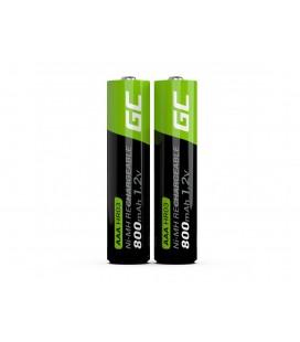 Μπαταρία Επαναφορτιζόμενη Green Cell 800 mAh size AAA HR03 1.2V Τεμ. 2