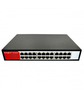 Ethernet Switch Tengfei HC-G1024D 24*10/100/1000Mbps 5 Port Μαύρο 5V 100mA