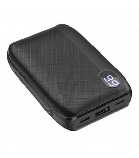 Power Bank Hoco J53 Exceptional 10000mAh USB 2A και LED Ψηφιακή Ένδειξη Μπαταρίας με Υφασμάτινο Περίβλημα Μαύρο