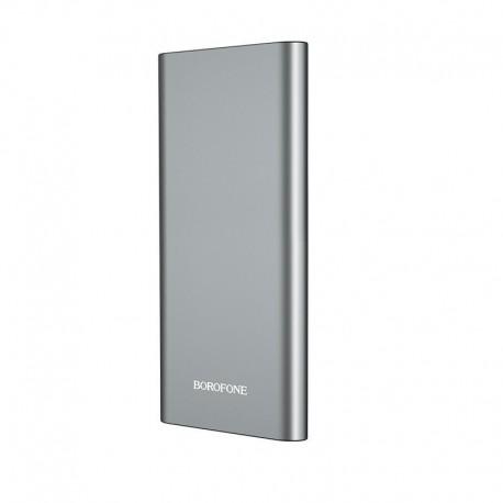 Power Bank Borofone BT19A Universal 15000mAh Micro USB Input & Dual USB 5V/2A Output και ένδειξη LED Ασημί