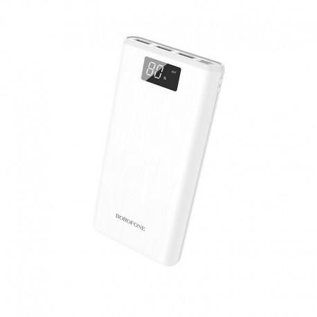 Power Bank Borofone BT2D Fullpower 30000mAh Triple USB 5V/2A με Οθόνη LED Ένδειξης Μπαταρίας Λευκό