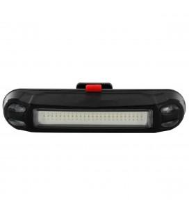Φακός Ποδηλάτου Ancus 097 με Πίσω Κόκκινο Φως LED 100 Lumens, 6 Επίπεδα Φωτεινότητας και Φόρτιση με USB. Μαύρος