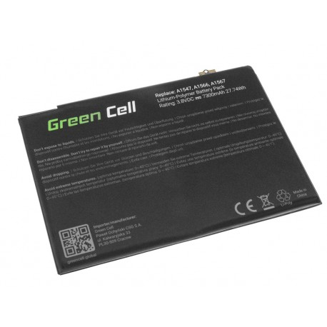 Μπαταρία Green Cell A1547 Apple iPad Air 2 A1566 A1567 7300 mAh