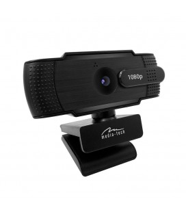 USB Webcam Media-Tech Look V Privacy MT4107 Full HD 1920x1080 Μαύρη με Ενσωματωμένο Μικρόφωνο